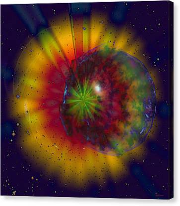 Cosmic Light Canvas Print by Linda Sannuti