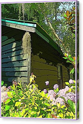 Cottage At Magnolia Plantation Canvas Print by Mindy Newman