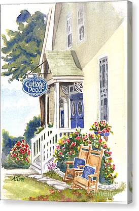 Cottage Decor Canvas Print by Andrea Timm