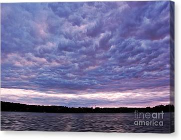 Cotton Candy Clouds Canvas Print by Jill Hyland