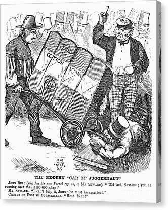 Cotton Loan Cartoon, 1865 Canvas Print by Granger
