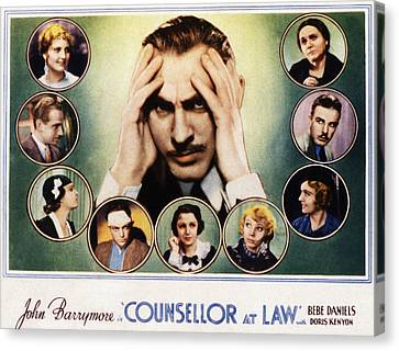Counsellor At Law, Center John Canvas Print by Everett