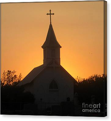 Country Church Canvas Print by Kim Yarbrough