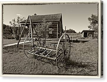 Country Classic Monochrome Canvas Print by Steve Harrington
