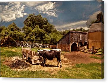 Country Life Canvas Print by Lourry Legarde