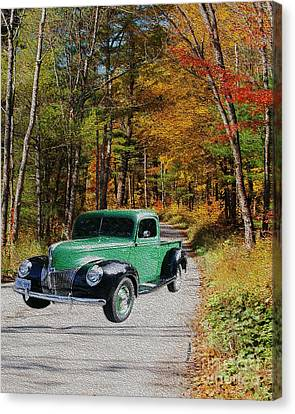 Country Roads Canvas Print by Cheryl Young