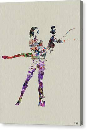 Couple Dancing Canvas Print by Naxart Studio