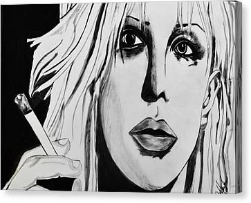 Courtney Love Canvas Print by Cat Jackson