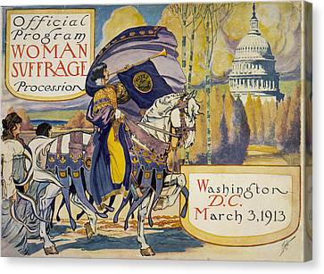 Cover Of Program For The National Canvas Print by Everett