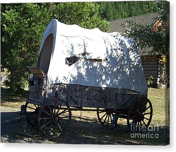 Covered Wagon Canvas Print by Charles Robinson