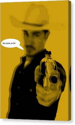 Cowboy  Canvas Print by Chandler  Douglas