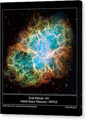 Crab Nebula - Hubble Sapce Telescope Canvas Print by ilendra Vyas