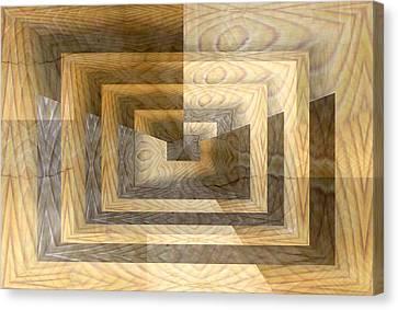 Cracks In The Veneer Canvas Print by Tim Allen