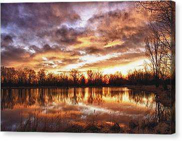 Crane Hollow Sunrise Boulder County Colorado Hdr Canvas Print by James BO  Insogna