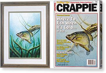 Crappie And Coon Tail Cover Canvas Print by JQ Licensing