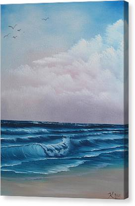 Crashing Wave Canvas Print by Kevin Hill