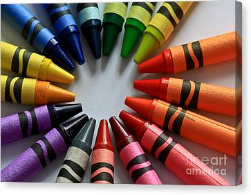 Crayola Color Canvas Print by Tracy  Hall
