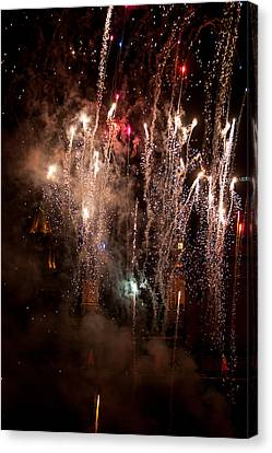 Crazy Crowd Canvas Print by Paul Mangold