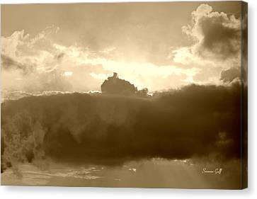 Creation In Sepia Canvas Print by Suzanne Gaff