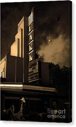 Creature Feature At The Lark - Larkspur California - 5d18484 - Sepia Canvas Print by Wingsdomain Art and Photography