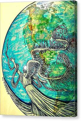 Creatures Can Understand And Absorb Canvas Print by Paulo Zerbato