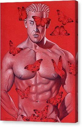 Crimson Flight Canvas Print by Chance Manart