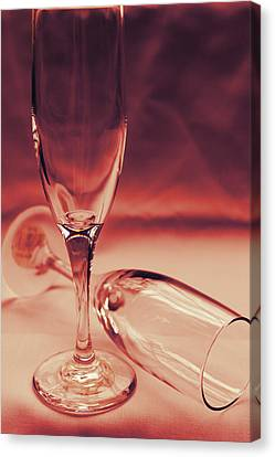 Crimson Glasses Canvas Print by Sarah Broadmeadow-Thomas