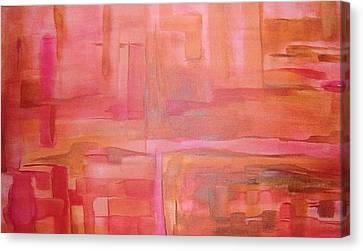 Crimson Sky Canvas Print by Derya  Aktas