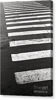 Cross Walk Canvas Print by Gabriela Insuratelu