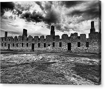 Crown Point Barracks Black And White Canvas Print by Joshua House