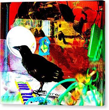 Crow's Piano Canvas Print by YoMamaBird Rhonda