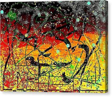 Crows Canvas Print by YoMamaBird Rhonda