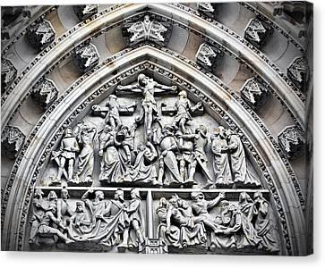 Crucified Christ - Saint Vitus Cathedral Prague Castle Canvas Print by Christine Till