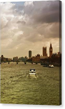 Cruise On River Thames In London - England Canvas Print by Alexandre Fundone