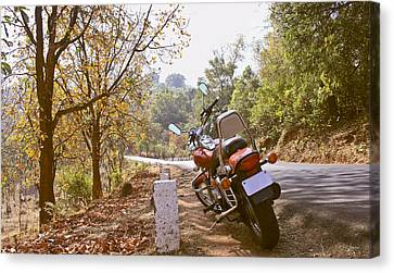 Cruiser In Autumn Canvas Print by Kantilal Patel