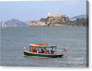 Cruizing The San Francisco Bay On The Pier 39 Boat Taxi With Alcatraz Island In The Distance.7d14322 Canvas Print by Wingsdomain Art and Photography