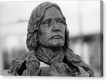 Crying Chief Niwot  Canvas Print by James BO  Insogna