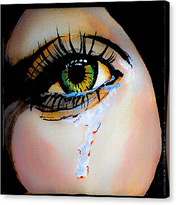 Crying Eye 2 Canvas Print by Chris  Leon