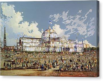 Crystal Palace New York Canvas Print by WS Parkes
