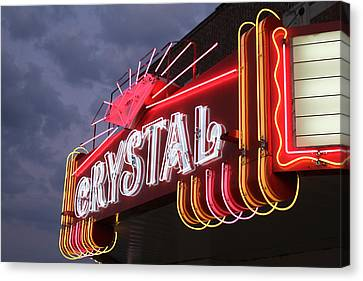 Crystal Theater Neon Canvas Print by Tony Grider