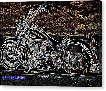 Cu Boulder Colorado Nights Canvas Print by Eric Dee