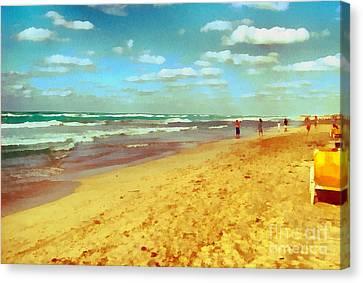 Cuba Beach Canvas Print by Odon Czintos