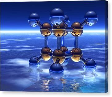 Cubane Molecule Canvas Print by Laguna Design