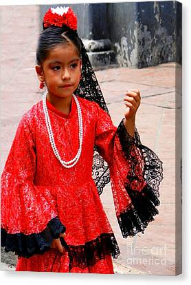 Cuenca Kids 209 Canvas Print by Al Bourassa
