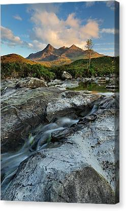 Cuillin Evening Sunlight Canvas Print by Stewart Smith