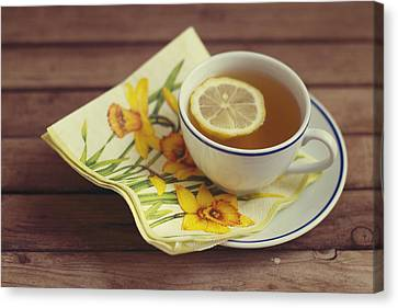 Cup Of Tea With Lemon Canvas Print by Copyright Anna Nemoy(Xaomena)