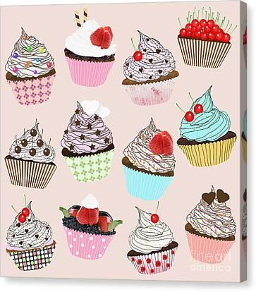 Cupcake  Canvas Print by Setsiri Silapasuwanchai