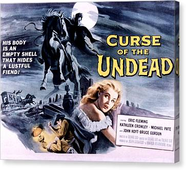 Curse Of The Undead, Kathleen Crowley Canvas Print by Everett