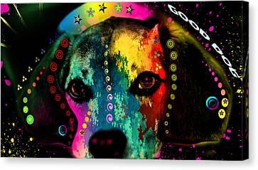 Cute Dog  Canvas Print by Mark Ashkenazi