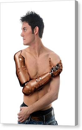 Cybernetic Arm, Composite Image Canvas Print by Victor Habbick Visions